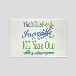 Incredible 100th Rectangle Magnet